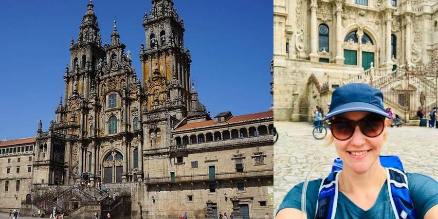 Litzi-essler-at-the-cathedral-in-santiago-caminoways.com