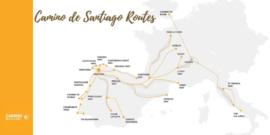 Camino de Santiago Routes in Spain - CaminoWays.com on