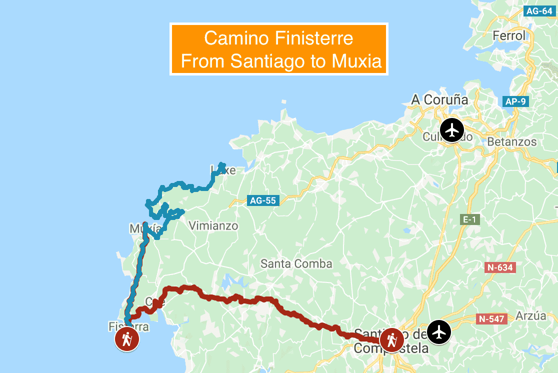 camino-finisterre-map-spain