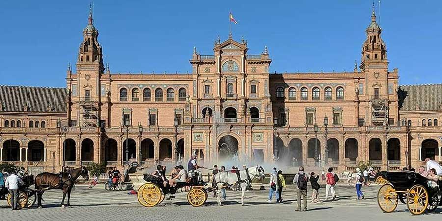 seville-via-de-la-plata-camino-de-santiago-plaza-espana-caminoways