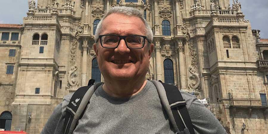 dario-outside-the-cathedral-santiago-de-compostela-camino
