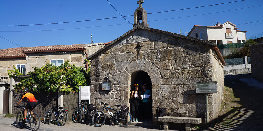 walking the camino stamping pilgrim passport chapel camino portugues caminoways