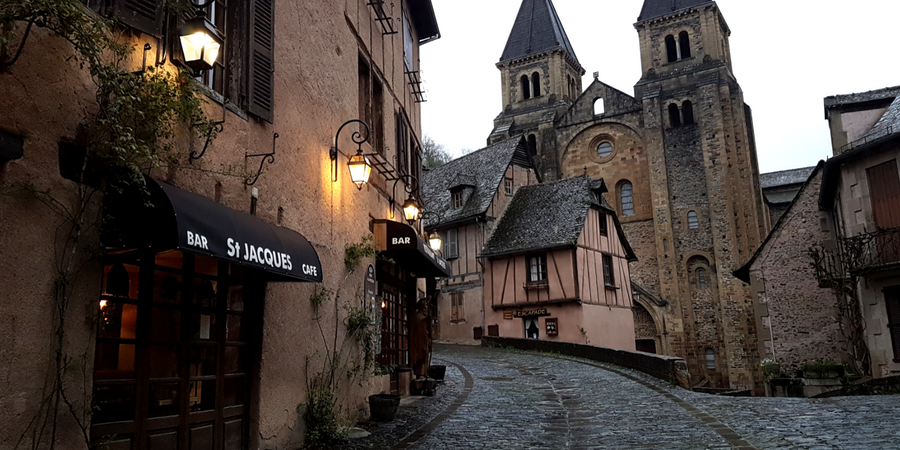 conques-french-town-le-puy-way-camino-de-santiago