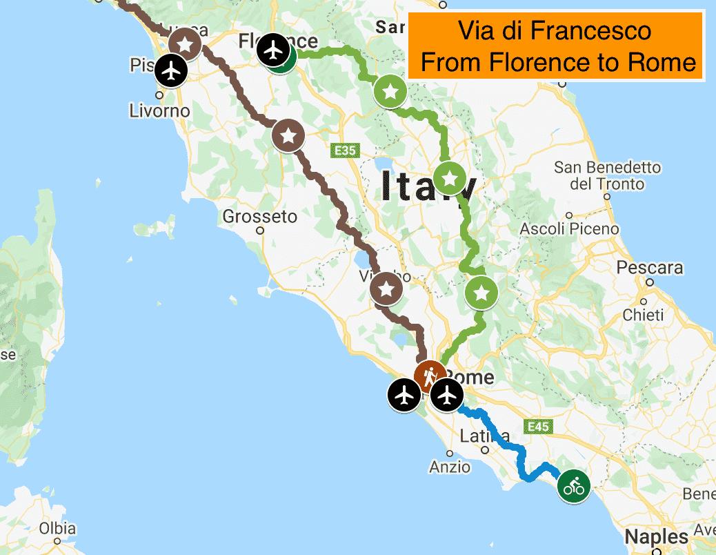 via-di-francesco-map