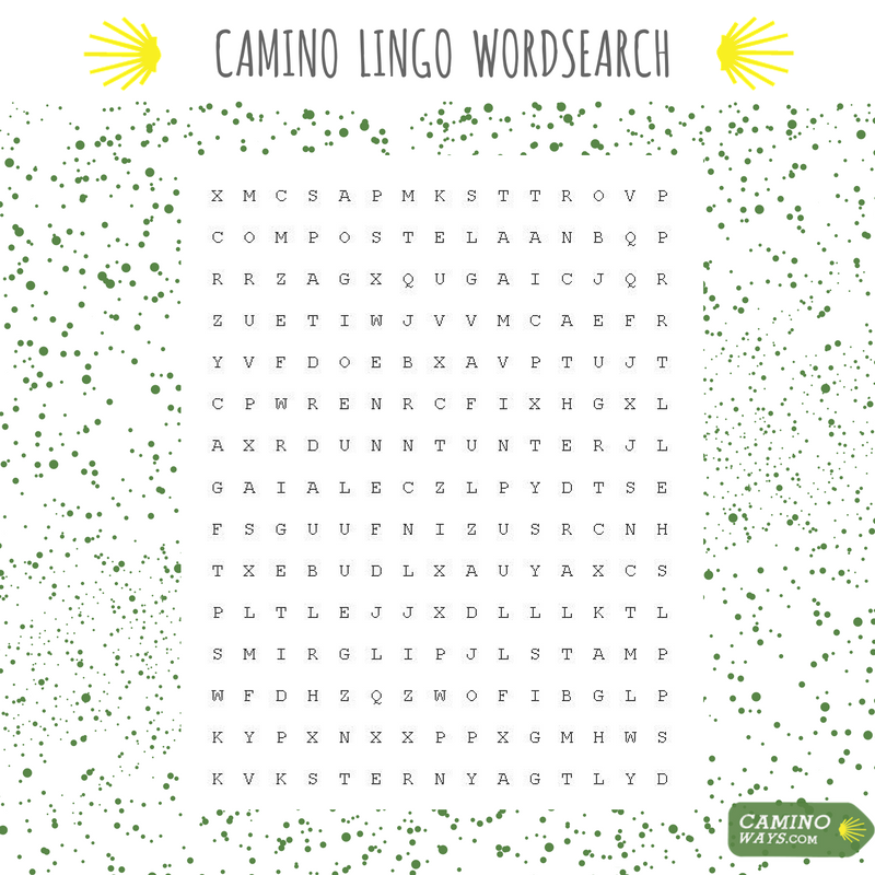 Camino Lingo Wordsearch CaminoWays