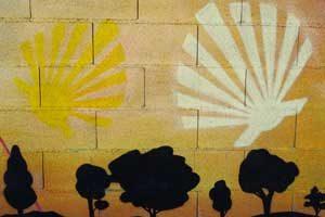 Camino-Mural---Caroline-on-the-CAmino---Caminoways.com