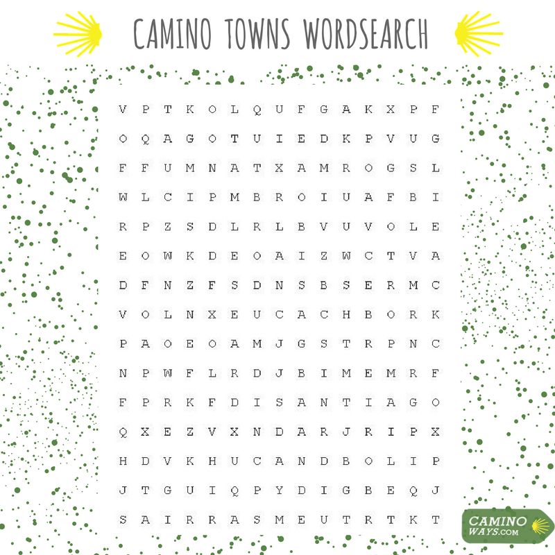 Camino Towns Wordsearch CaminoWays