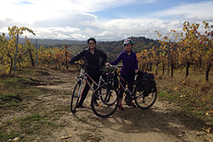 Caroline-cycling-vineyards-san-miniato-via-francigena