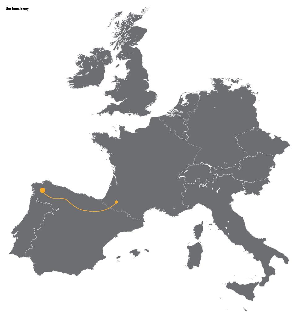 French Way - map- caminoways - CaminoWays.com on