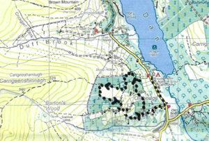 Map of short walk