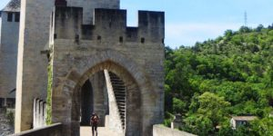 Pilgrim-Walking-Cahors-France-Camino-de-Santiago