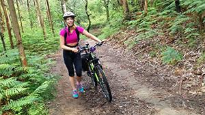 Rebecca-Cycling-Camino-Ingles