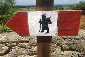Rome-Via-Francigena-Pilgrim-sign