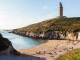 hercules-tower-a-coruna-beach-celtic-camino-ingles