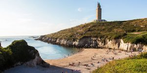 hercules-tower-a-coruna-beach-celtic-camino-ingles