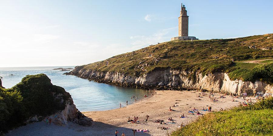 Herkules-Turm-a-Coruna-Strand-Celtic-Camino-Ingles
