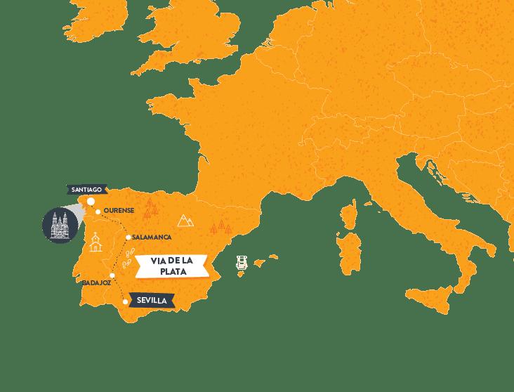 via-de-la-plata-camino map