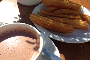 chocolate-churros-santiago-camino-de-santiago-caminoways