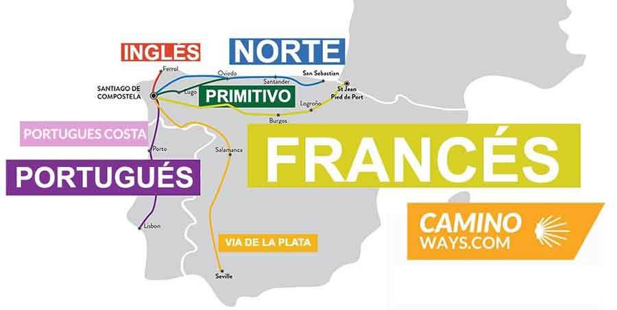 Pilgrim favourite Camino routes Camino de Santiago CaminoWays