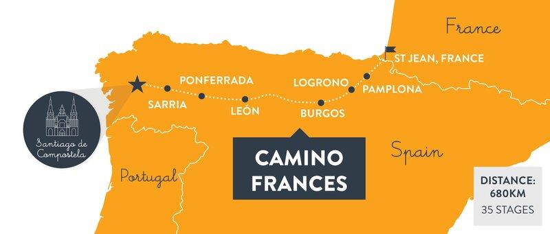 Camino-frances-map