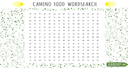 Camino food wordsearch