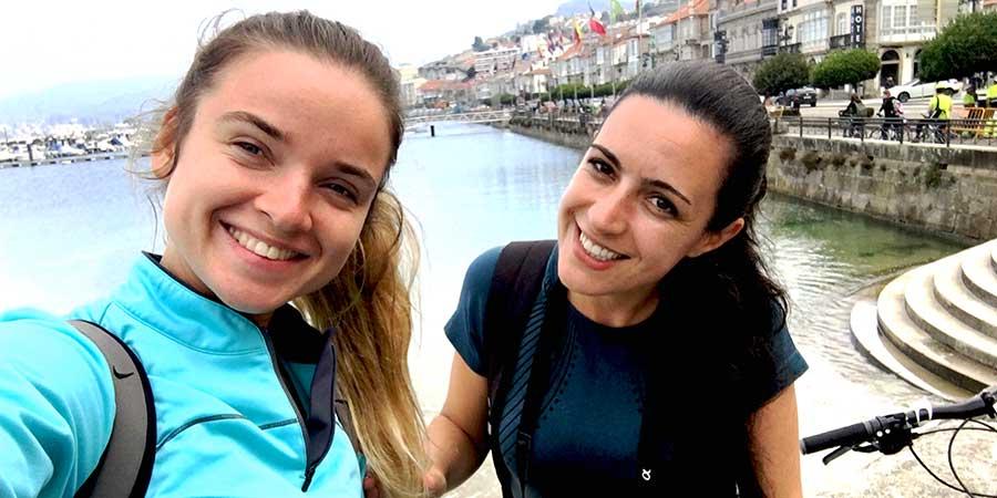 lisa-and-inesa-camino-portugues-mindful-walking