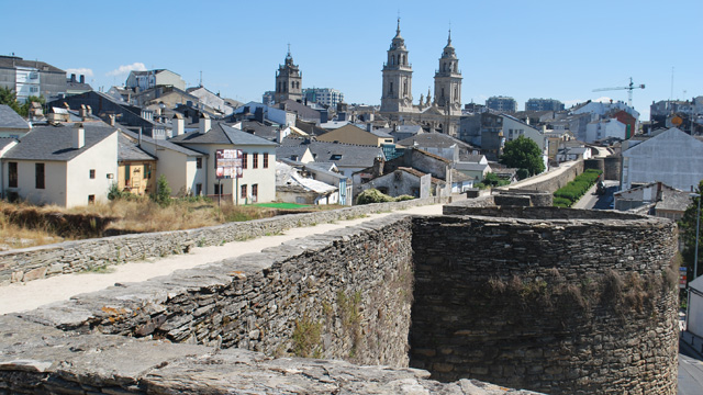 Lugo Roman wall camino primitivo caminoways