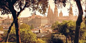 One big hug in Santiago de Compostela