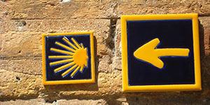 scallop-yellow-arrow-camino-de-santiago-caminoways