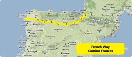map-camino-french-way