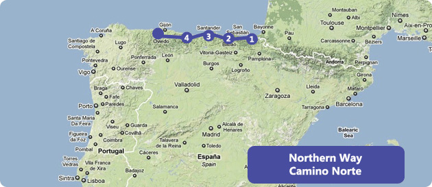 map-camino-norte-way