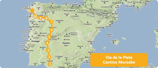 map-camino-via-de-la-plata Map Of Camino De Santiago on map of the camino, map of sierra de gredos, map of camino portugues, google maps camino de santiago, map of santiago de compostela, map of juan de fuca trail, map of santiago dominican republic, map of tour de mont blanc, route of camino de santiago, map of sierra de guadarrama, tours of camino de santiago, map of camino primitivo, history camino de santiago, map of costa de la luz, map of picos de europa, map of camino del norte, map of el camino real de tierra adentro, walking the camino de santiago, el camino de santiago,