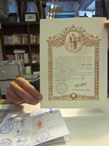 The Compostela Pilgrims Certificate