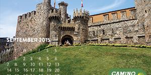 september-camino-desktop-calendar-caminoways-ponferrada-castle