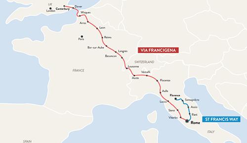 FAQ: How long does the Via Francigena take? - CaminoWays.com Camino Walk Map on